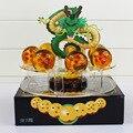 Dragon Ball Z Figuras de Acción de Esferas Del Dragón Shenron + 7 unids Dragon Ball Bolas De Cristal + Estante Brinquedos Regalos Juguetes de colección