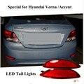 2016 New Arrivals 12 V Lens Red ABS Traseiro Aviso LED Bumper Refletor Luz de Travagem Da Cauda Para Hyundai accent 2012/Hyundai Verna