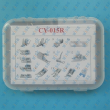 CY 015R 15 PCS Snap On Adapter Quilting Foot Walking Foot Janome Brother Singer Made in