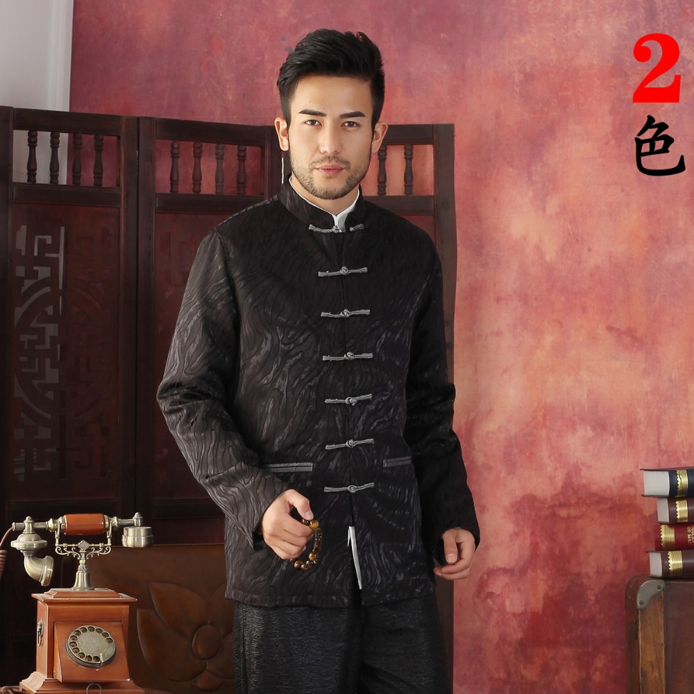 Free Shipping Chinese Tradition Autumn Winter Men's Cotton Jacquard Kung Fu Jacket Coat M L XL XXL 3XL  DY01