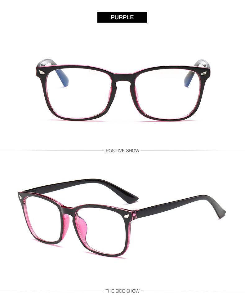 purple Non-Prescription Blue Light Blocking Glasses