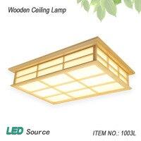 Lamparas de techo moderno Retângulo de Superfície montado EM Madeira De CARVALHO PVC casa de madeira levou dispositivo elétrico da lâmpada do teto para sala de estar quarto