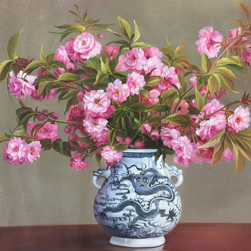 100 Hand Painted Flowers Vases Bonsai Art Painting On Canvas Wall Art Wall Painting Adornment pictures For Live Room Home Decor in Painting Calligraphy from Home Garden