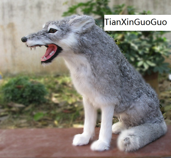 large 35x18x45cm simulation gray squatting wolf hard model plastic&furs wolf prop,home decoration toy gift s2287 large 42x80cm simulation dove model toy plastic foam