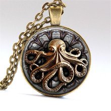 Steampunk Octopus necklaces pendants Octopus Goth Jewelry Best Friends Pendant