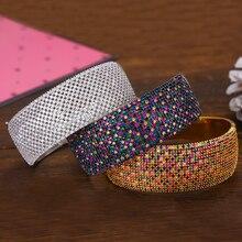 GODKI Breiten Großen Luxus Stapelbar Erklärung Armband Für Frauen Hochzeit Voller Cubic Zirkon Kristall CZ Dubai Armbänder 2019