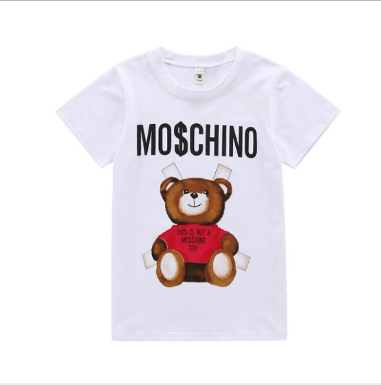 Lanbaiyijia Bear print girl t shirt 2018 Newest fashion tshirt Cotton T-shirt summer child clothes girls print boys t shirt футболка для девочки t shirt 2015 t t 2 6 girl t shirt
