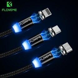 FLOVEME Магнитный кабель 1 м плетеные мобильного светодио дный Тип C Магнит Micro USB Зарядное устройство кабель для Apple iPhone X 7 8 6 XR Xs Max Xs зарядное уст...