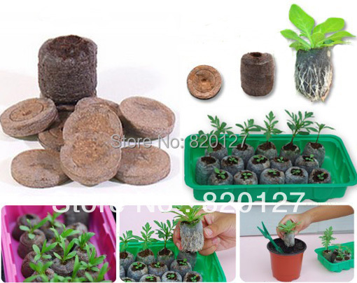 US $12 0 |40pcs/lot, 30mm Seed Starting Seeds Starting Plugs Professional  Peat Soil Pallet BIODEGRADABLE GARDEN SUPPLIES!-in Nursery Trays & Lids  from