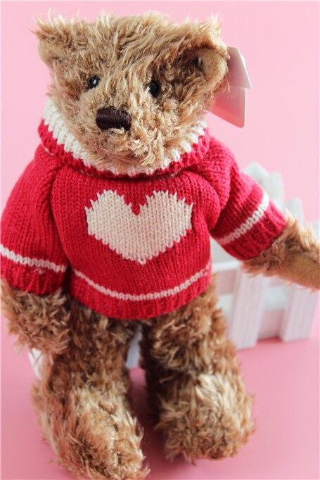 Милые совместное медведь одежда свитер вещи плюшевые игрушки ребенка подарок на день рождения colleciton