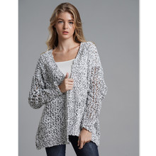 Winter Cardigan Women Knitwear Hallow Out Long Loose Spring Knitted Crochet Sweater for E1943