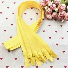 10 sztuk żółty 3 # zamknięte nylonowe zamki spiralne krawiec szycia Craft 15/20/25/30 CM