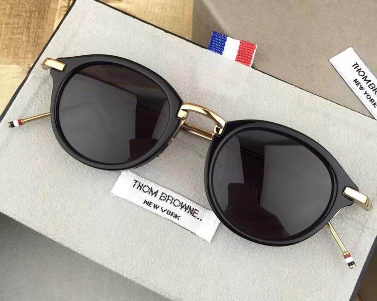 2018 Vintage Round Sunglasses Men Women High Quality Sun Glasses Polarized Zonnebril Mannen Dames With Original Case