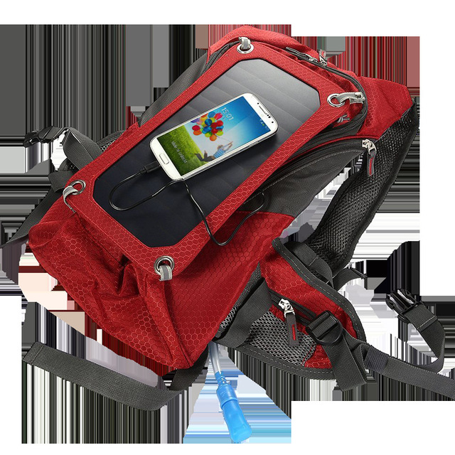 Solar backpack solar power board outdoor sports travel to mobile phone digital electrical power supply water bag 5