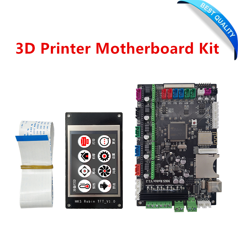 3D printer motherboard MKS Robin STM32 integrated board stm32 development board with touch screen / MKS V2.3 flsun 3d printer big pulley kossel 3d printer with one roll filament sd card fast shipping