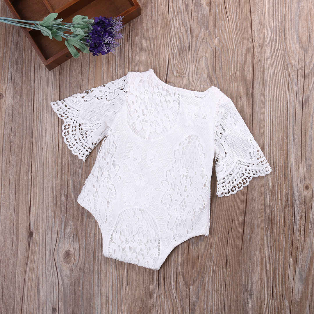 34660259b703 ... New Arrival Kids Girls Clothing Rompers Cute Infant Toddler Baby Girl  Lace Floral Romper Jumpsuit Outfits ...