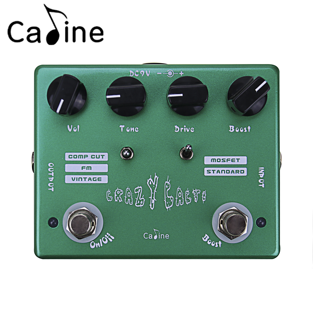 Caline CP-20 Crazy Cacti ON/OFF LED Overdrive Guitar Effects Pedal Aluminum Alloy Housing Green Color Guitar Accessory ремень безопасности для беременных киев