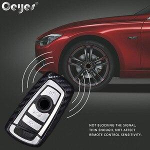 Image 4 - Ceyes רכב סטיילינג אוטומטי סיבי פחמן מפתח כיסוי מעטפת מקרה עבור Bmw חדש 1 3 4 5 6 7 סדרת F10 F20 F30 חכם 3 כפתורי אביזרים