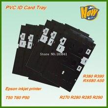 Новый совместимый пвх удостоверение личности лоток для epson T50 T60 A50 P50 RX680 R260 R270 R280 R285 R290 R380 R390 струйный Пластик печати карт