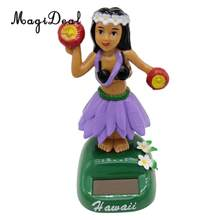 Fun Solar Powered Hula Hawaiian Girl Model Dancing Swing Figure Doll Bobbing Bobbleheads Toy Hawaii Collectible Desktop Decor #F(China)