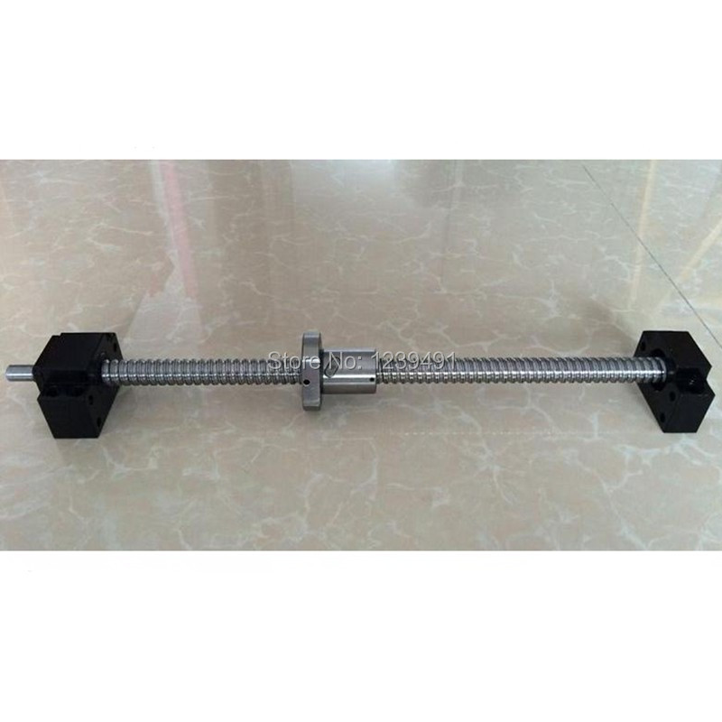 SFU1605 200mm 250mm 300mm 350mm 400mm 450mm 500mm 550mm 600mm 650mm ballscrew + BK12/BF12 CNC parts RM1605-in Linear Guides from Home Improvement    1