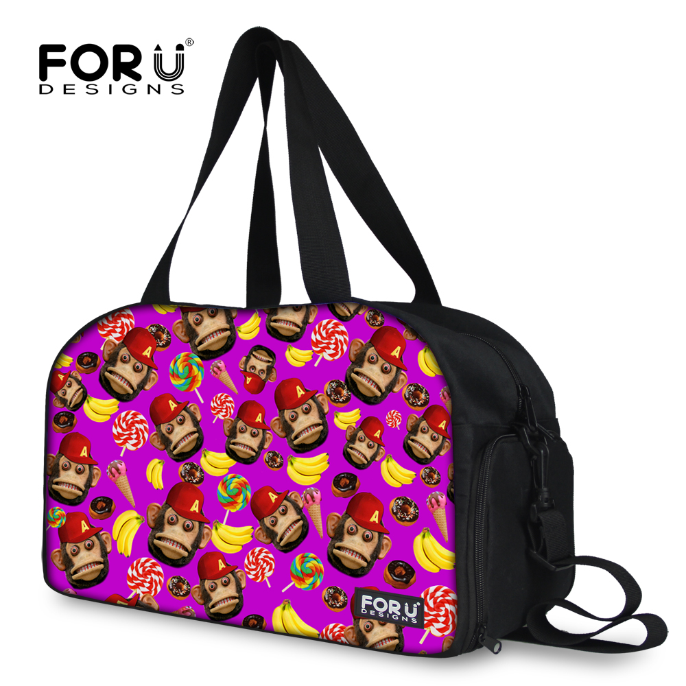 FORUDESIGNS Women Travel Bags Cute Monkey