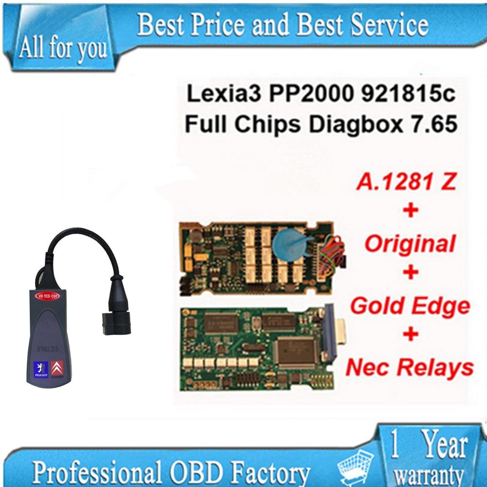Prix pour Plein puce diagbox 7.56 avec led Meilleur outil lexia3 Outil De Diagnostic pp2000 lexia 3, lexia-3 pp 2000