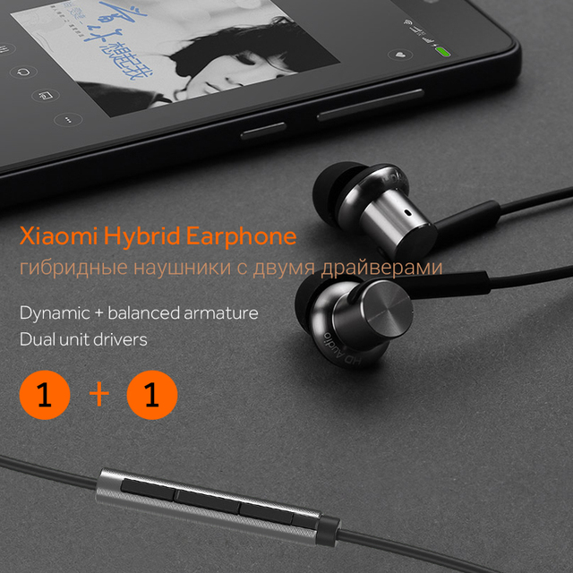 With Microphone For Mobile Phone Xiaomi Huawei Android Phones Xiaomi Hybrid Pro HD Mi In-Ear Earphone