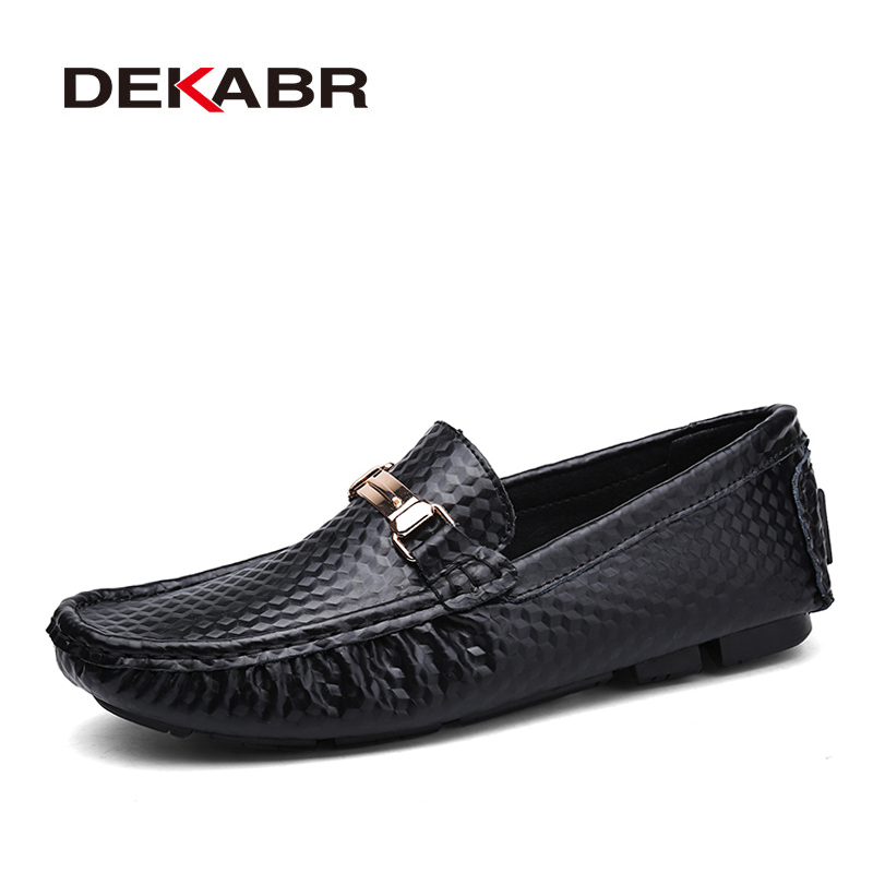 DEKABR Brand New Slip-On Casual Shoes Men 2019 Top Fashion Loafers Men's Moccasins Shoes Handmade Driving Flats Shoes For Men