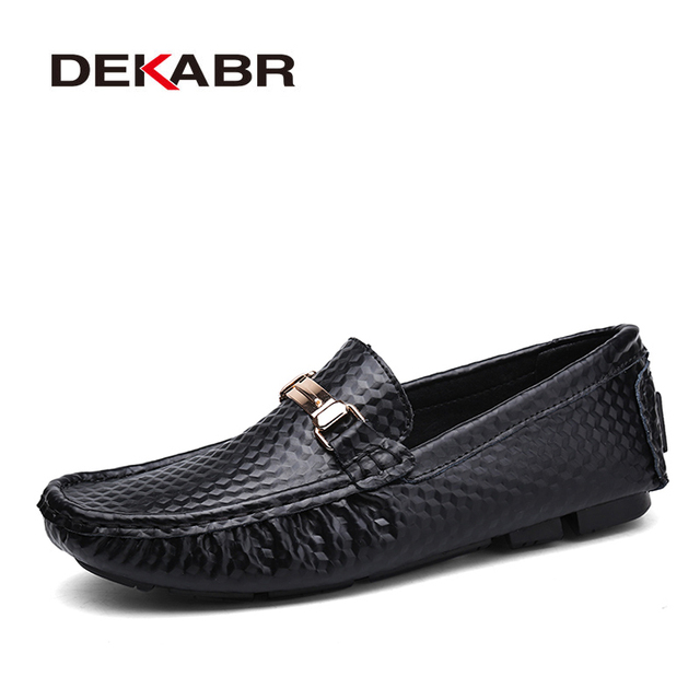 DEKABR Brand New Slip On Casual Shoes Men 2021 Top Fashion Loafers Mens Moccasins Shoes Handmade Driving Flats Shoes For Men