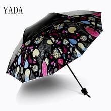 YADA Folding Greenish Lily Flower Umbrella Rain uv High Quality For Womens Brand Windproof Adult Patio Umbrellas YS285