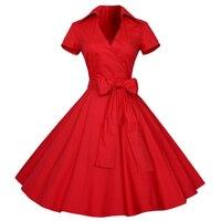 2017 Sexy Autumn Dress Women S Retro Vintage Dress Elegant Audrey Hepburn Short Sleeve Casual Office