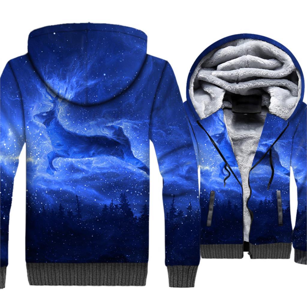 Fitness 3D Art Fashion Man Winter Spring Autumn Hoodies Printed Moon Dragon Skull Sky Sweatshirts Men's Jacket Hip Hop Outwear