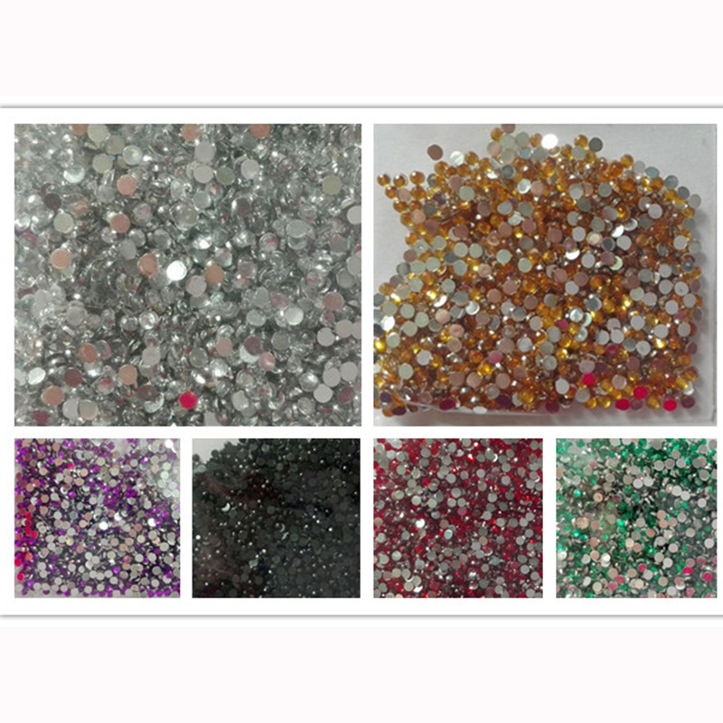 Flat back beads nail rhinestones acrylic nail art for Acrylic nail decoration supplies