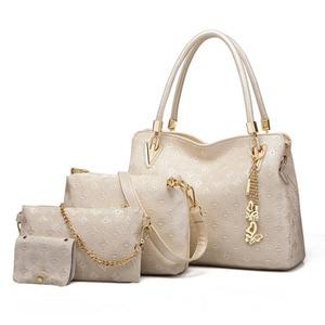 Image 4 - Women Top Handle Bags Female Composite Bags Women Messenger Bags Handbag Set PU Leather Wallets Key Bag Set