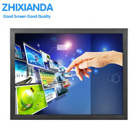 Resistive Touch Monitor 17 Inch 1280 1024 VGA HDMI Touch Monitor With USB Input 75 75