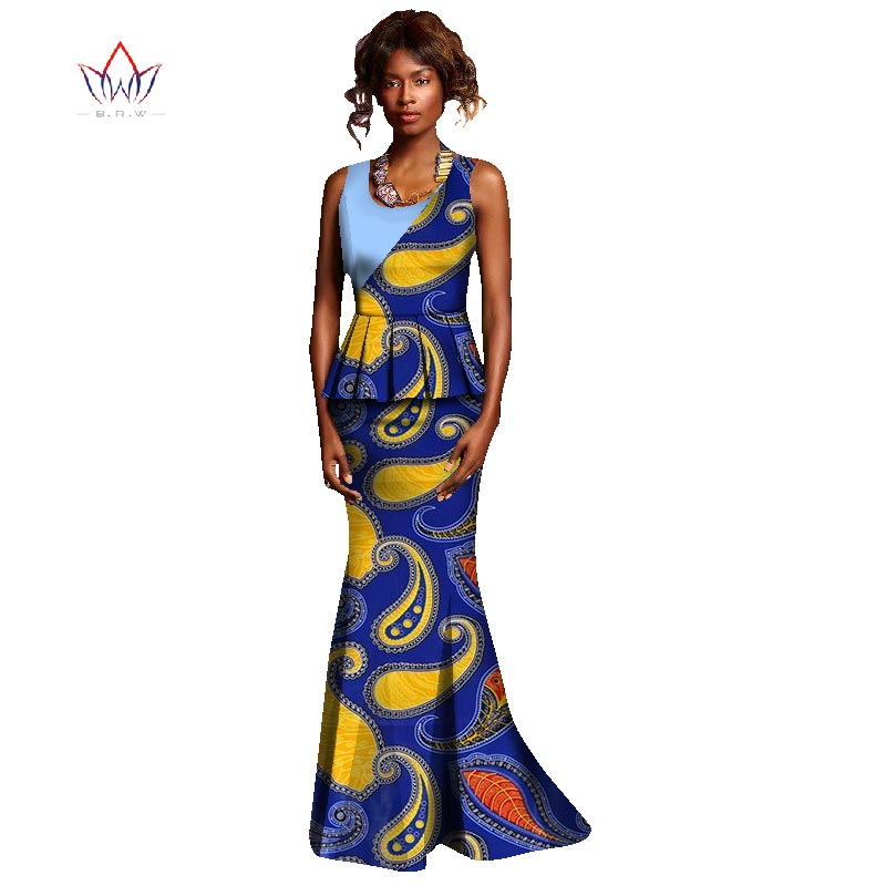 African Dresses for Women Fashions Designs Plus Size Two Piece Set Women  Sleeveless Traditional African Kanga Clothing WY1061 f4e557f5456f