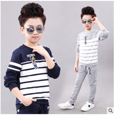 Spring Boys Sport Suit 2017 New Leisure Tracksuits for Girls Two-piece Children Long Sleeve Kids Clothing Set Autumn 3-13 yrs 2015 new arrive super league christmas outfit pajamas for boys kids children suit st 004