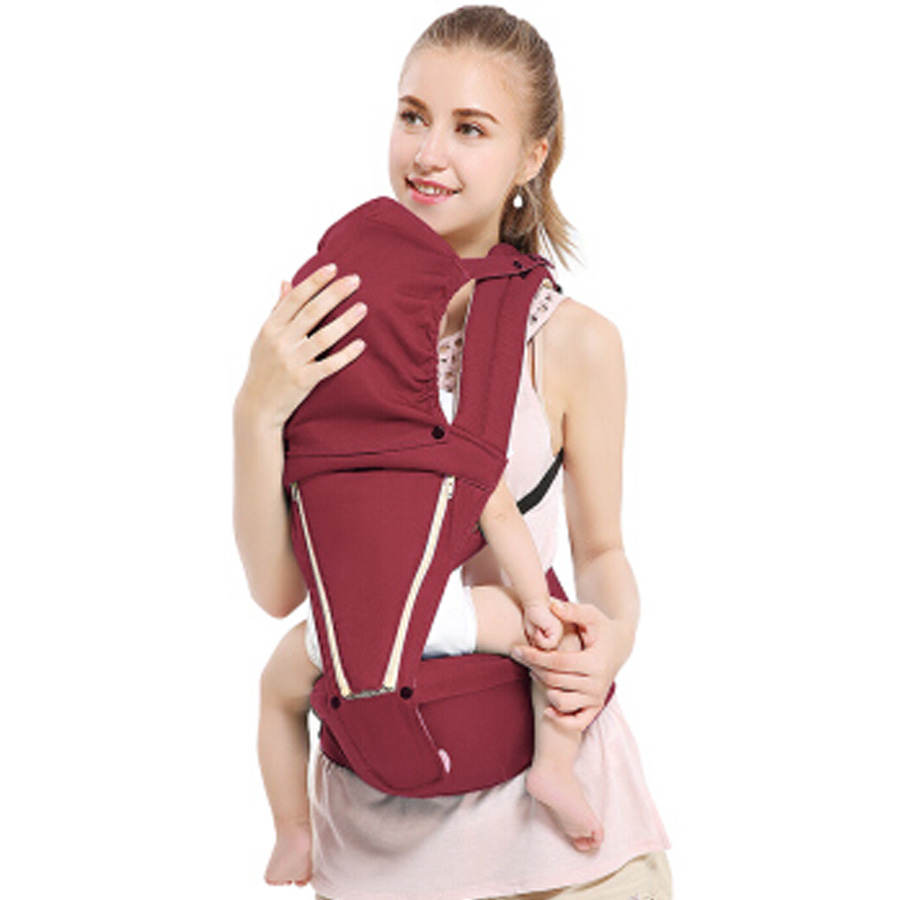 Baby Carrier With Hipseat Removable Multifunction All Seasons Comfortable Toddlers Wrap Sling Kangaroo For New Mothers