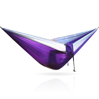 Purple Hammock Violet Color Outdoor Hammock Tree Portable Parachute Sleeping Swings Backpacking Hiking Woven Camping Furniture