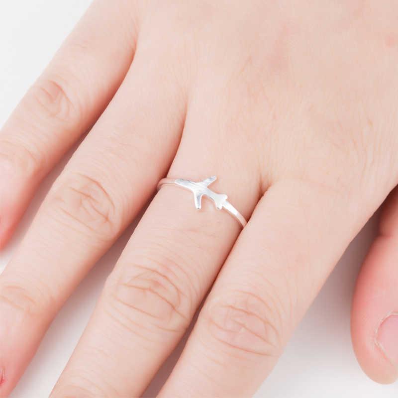 Smjel Pesawat Cincin Pernikahan Yang Unik Pesawat Pesawat Cincin Terbaik Teman Wanita Aksesoris Perhiasan Bijoux Femme Hadiah