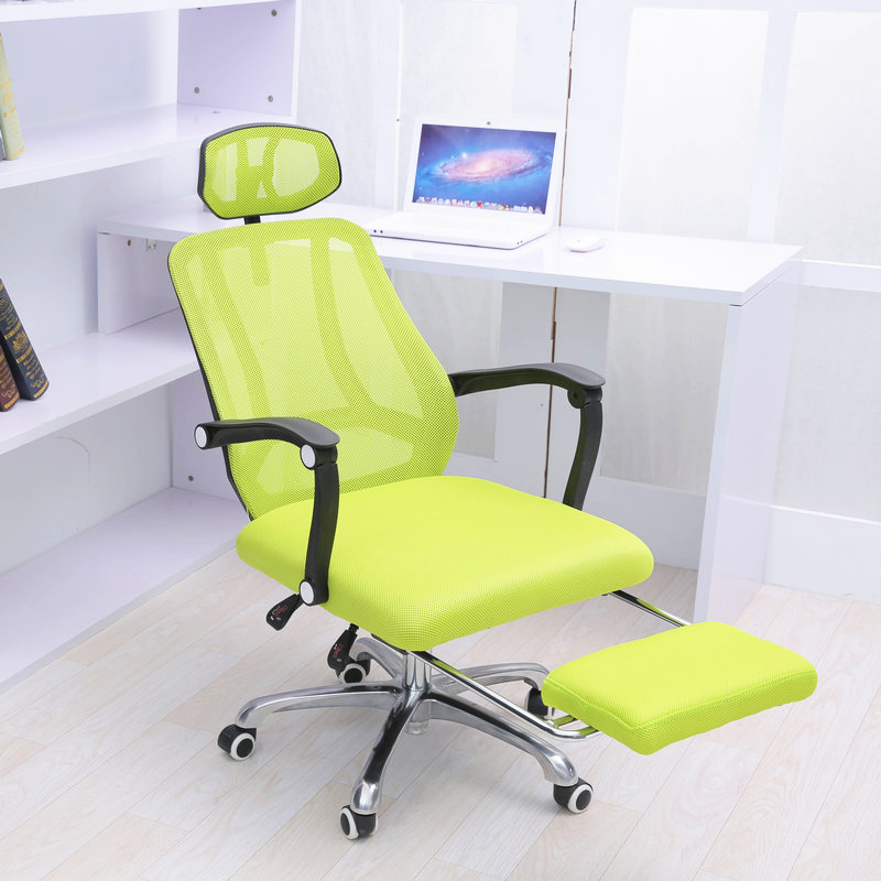 High Quality Mesh Cloth Office Chair Breathable Soft Cushion Computer Chair Multifunctional Adjustable Headrest Staff Chair