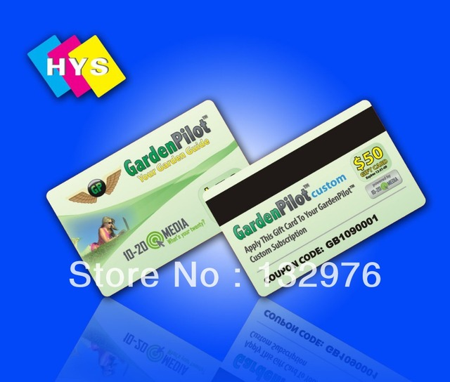 Plastic magnetic stripe card and pvc member card Printing