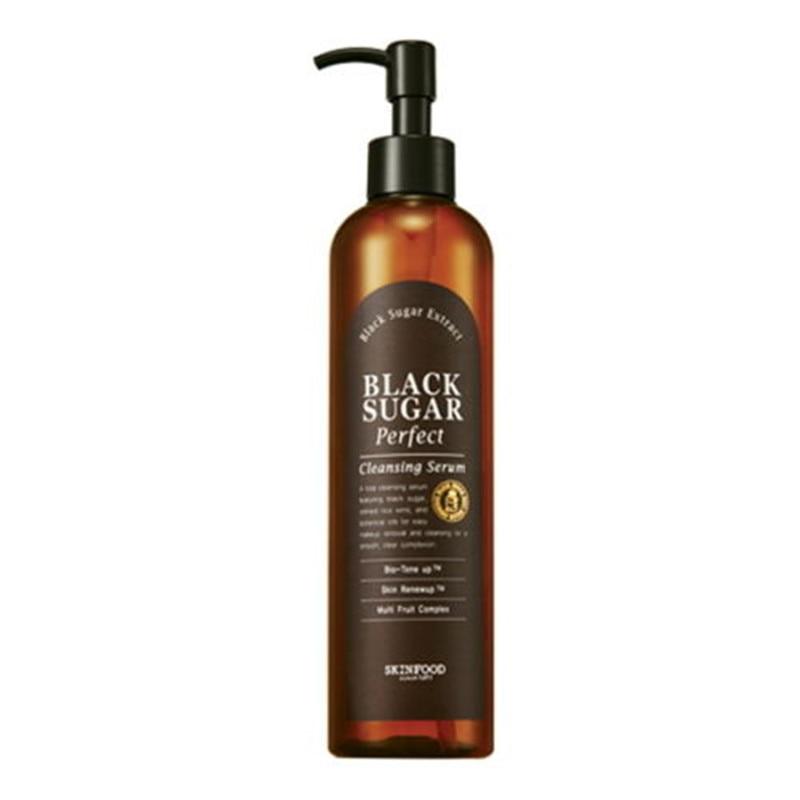 SkinFood Black Sugar Perfect Cleansing Serum 300ml Moisturizing Exfoliation Cleansing Skin Care Korea Cosmetics крем skinfood gold caviar collagen eye serum