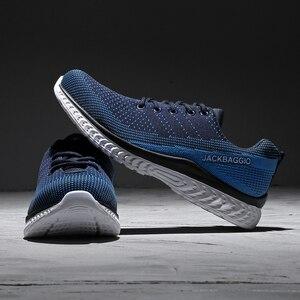 Image 2 - Marca novedosa zapatos de seguridad para el trabajo de los hombres, zapatos deportivos ligeros transpirables, zapatos casuales antideslizantes. Tamaño 36 45,3 color.