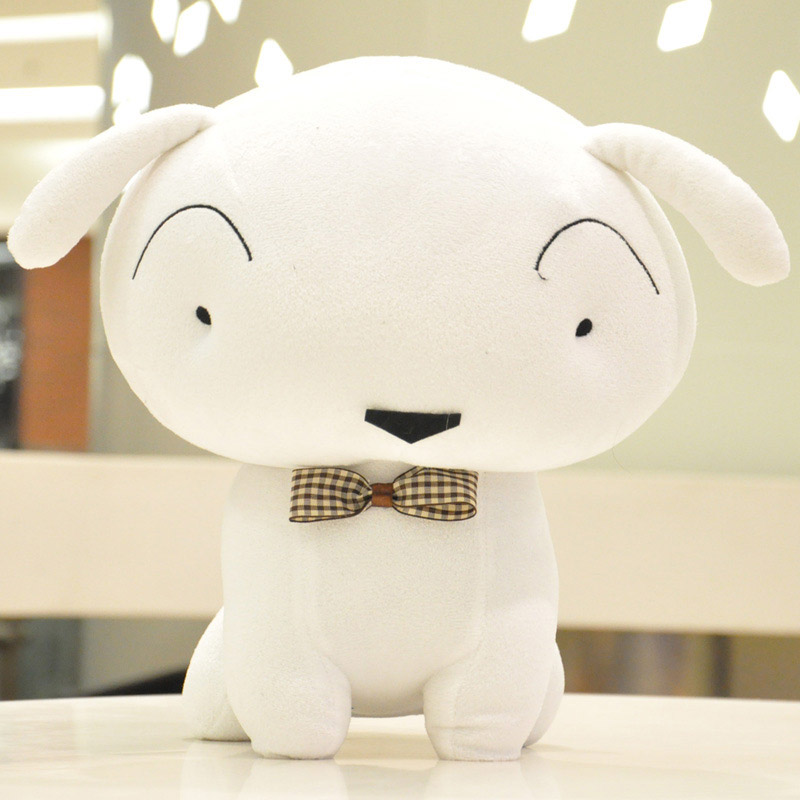 2017 White Crayon Shin Chans Little Animation Dog Plush Toy Cute Cartoon Doll Lovely Soft Stuffed Animals Kids Baby Birthday C28