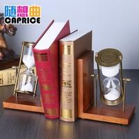 Book book shelf hourglass creative complex classical round wood rotating European Home Furnishing decoration decoration