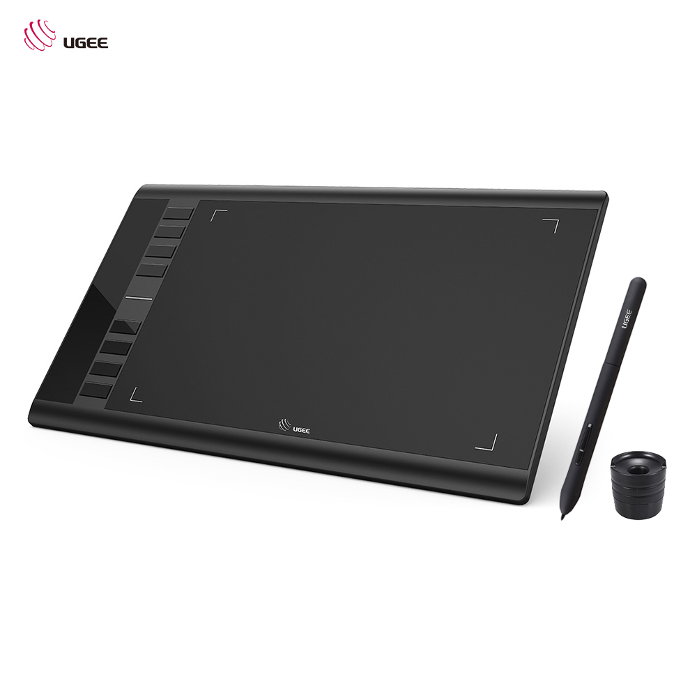 Ugee M708 Upgraded Graphics Drawing Tablet Board With Battery-free Passive Pen 8192 Pressure Sensitivity 266RPS