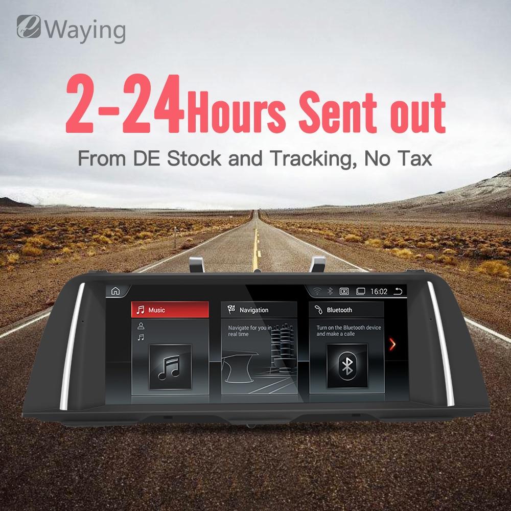 Ewaying 10.25 Quad-Core Android 7.1 2g + 32g IPS écran CIC Voiture multimédia pour BMW série 5 F10 F11 GPS Navigation idrive