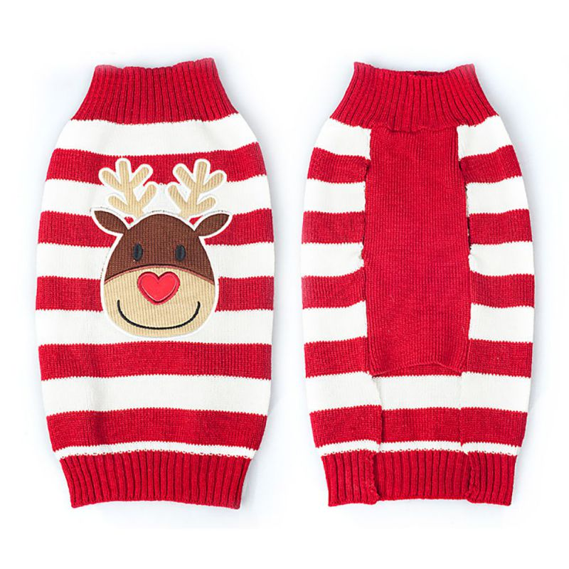 Christmas Dog Clothes Deer Cats Sweater Warm Pullover Coat Puppy Apparel Sweater